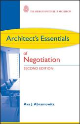 Architect S Essentials Of Negotiation Book PDF