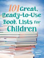 101 Great  Ready to Use Book Lists for Children PDF