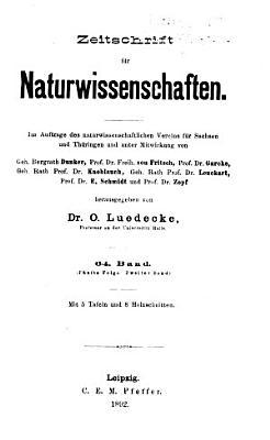 Zeitschrift f  r Naturwissenschaften PDF