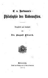 E. v. Hartmann's Philosophie des Unbewussten