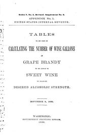 Tables to be Used in Calculating the Number of Wine Gallons of Grape Brandy to be Added to Sweet Wine to Produce Desired Alcoholic Strength