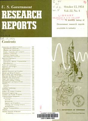 U S  Government Research Reports