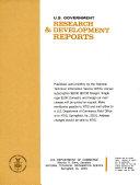 U S  Government Research   Development Reports PDF