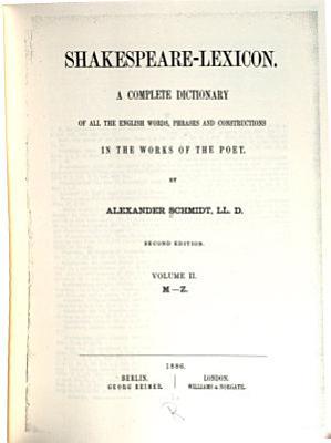 Shakespeare lexicon PDF