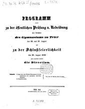 Programm des Königlichen Gymnasiums zu Trier: von dem Schuljahre .... 1845/46