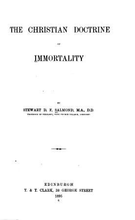 The Christian Doctrine of Immortality PDF