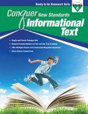Conquer New Standards Informational Text  Grade 6  Workbook