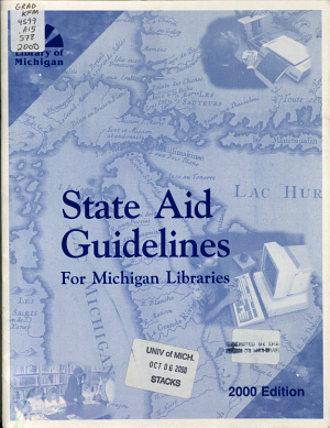 State Aid Guidelines for Michigan Libraries PDF