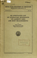 An Annotated List of Literature References on Garment Sizes and Body Measurements PDF