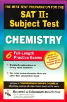 The Best Test Preparation for the College Board Achievement Test in Chemistry PDF