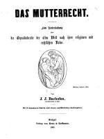 Das Mutterrecht PDF