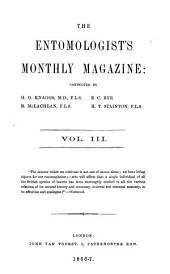 The Entomologist's Monthly Magazine: Volume 3