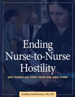 Ending Nurse to nurse Hostility PDF