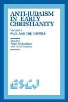 Anti Judaism in Early Christianity PDF