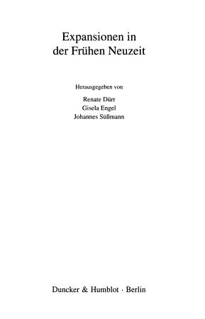 Expansionen in der Fr  hen Neuzeit PDF