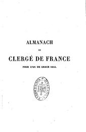 La France ecclésiastique: almanach du clergé