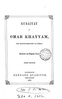 Rub  iy  t of Omar Khayy  m  rendered into Engl  verse  by E  Fitzgerald  3rd version   PDF