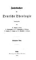Jahrb  cher f  r deutsche Theologie PDF