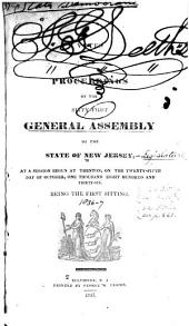 Votes and Proceedings of the ... General Assembly of the State of New Jersey: 1836-37
