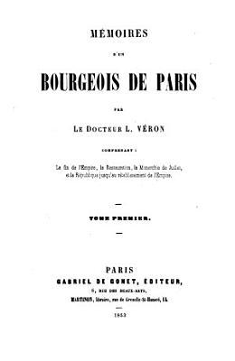 M  moires d un bourgeois de Paris PDF