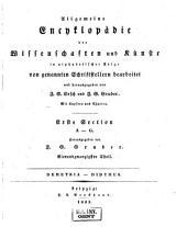 Allgemeine Encyclopädie der Wissenschaften und Künste in alphabetischer Folge: Erster Section: A-G, Band 24