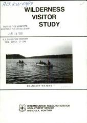 Wilderness visitor study