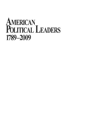 American Political Leaders 1789-2009