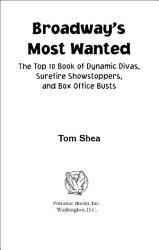Broadway S Most Wanted Book PDF