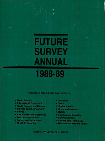Future Survey Annual 1988 1989 PDF