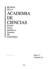 Revista de la Academia de Ciencias Exactas  F  sicas  Qu  micas Y Naturales de Zaragoza PDF