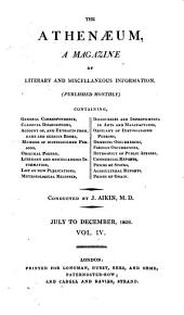 The Athenaeum: A Magazine of Literary and Miscellaneous Information ..., Volume 4