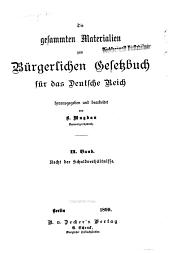 Die gesammten materialien zum Bürgerlichen gesetzbuch für das Deutsche reich: Band 2