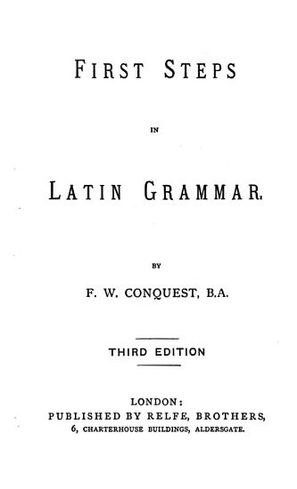 First Steps in Latin Grammar PDF