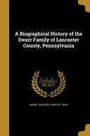 BIOGRAPHICAL HIST OF THE SWARR PDF