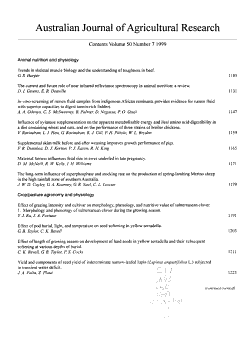 Australian Journal of Agricultural Research PDF