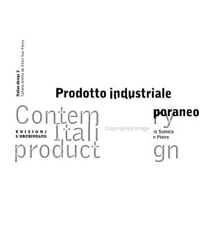 Contemporary Italian product design