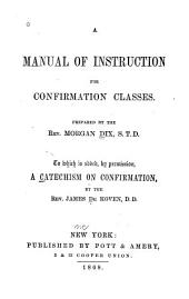 A Manual of Instruction for Confirmation Classes