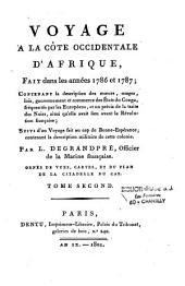 Voyage à la côte occidentale d'Afrique, fait dans les années 1786 et 1787: contenant la description des moeurs, usages, lois, gouvernement et commerce des Etats du Congo, fréquentés par les Européens, et un précis de la traite des noirs, ainsi qu'elle avait lieu avant la Révolution française