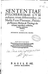 Marsilii Ficini ... Opera [et] quae hactenus extitêre [et] quae in lucem nunc primùm prodiêre omnia omnium artium [et] scientiarum ... refertissima: in duos tomos digesta, Volume 2