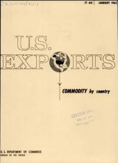 U.S. Exports: Commodity by country, Issues 1-3
