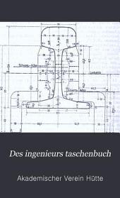 Des Ingenieurs Taschenbuch: Band 2