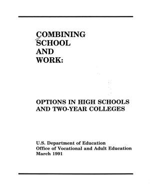 Combining School and Work