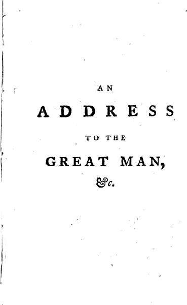 Download An Address to the Great Man Book