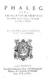 Phaleg siue De gentium sedibus primis, orbisque terrae situ, liber: Volumen 8