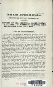 Reports of Drs. Veranus A. Moore, Mazÿck P. Ravenel, and William T. Sedgwick upon the federal meat inspection
