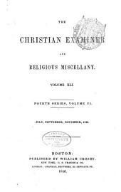 The Christian Examiner: Volume 41
