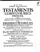 De Testamentis Coniugum Reciprocis