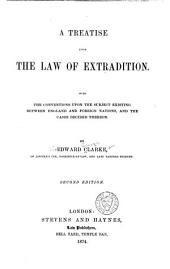 A Treatise Upon the Law of Extradition
