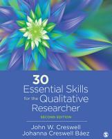 30 Essential Skills for the Qualitative Researcher PDF