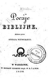 Poezije biblijne